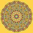 Vintage Mandala Of Orange-yellow Color With Place For Your Text