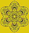 Vintage Mandala Of Yellow Color With Place For Your Text