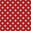 Vintage Red And White Snowflake Seamless Pattern. Good Idea For Textile, Wrapping, Wallpaper Or Cloth Design. Christmas Background. Vintage Illustration
