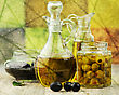 Vintage Style Picture Of Olive Oil stock photography