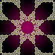 Violet And Yellow Seamless Arabic Paisley Background