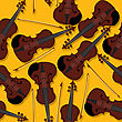 Violins And Bow Seamless Pattern For Your Design