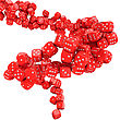 Die Vortex Of Many Red Dices stock illustration