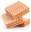 Wafers Or Honeycomb Waffles Isolated On White Background stock photo