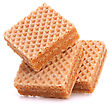 Wafers Or Honeycomb Waffles Isolated On White Background stock image