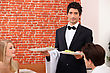 Waiter On Service stock photo