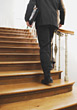 Walking Upstairs stock photography