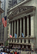 Trading Wall Street, Manhattan, New York stock image