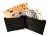 Wallet Full Of EUROs stock photography