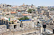 Walls Of Jerusalem, View On The Roofs Of The Old City. stock photography