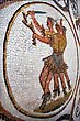 Warrior Mosaic Piece Of Ceramics In The Monument Museum Of The Bard Tunisia stock image