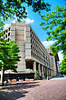 WASHINGTON, DC - MAY 8: J. Edgar Hoover FBI Building In Washington, DC On May 8, 2013. It Is The Headquarters Of The Federal Bureau Of Investigation (FBI stock photography