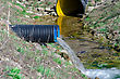 Waste Water Pipe Polluting Environment stock image