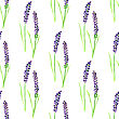 Watercolor Painted Seamless Lavender Pattern