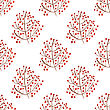 Watercolor Seamless Pattern With Red Berry Branches. Vector Illustration For Design Of Gift Packs, Wrap, Patterns Fabric, Wallpaper, Web Sites And Other