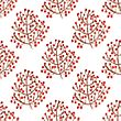 Watercolor Seamless Pattern With Red Berry Branches. Vector Illustration For Design Of Gift Packs, Wrap, Patterns Fabric