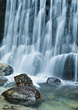 Waterfall Over Rocks stock photography