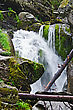 Waterfall On The River Zhigalan On A Ridge Kvarkush In The North Of The Ural Mountains