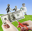 Paper We Cut Up Family Finances Or Life In Credit stock photo