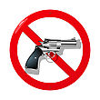 Weapon Restriction Sign In 3D stock vector