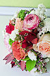Wedding Bunch Of Flowers Closeup At Table stock photography