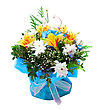 Wedding Bunch Of Flowers Isolated On A White stock image