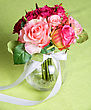 Wedding Bunch Of Flowers On A Green Table stock photography