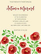 Wedding Invitation Cards With Watercolor Elements, Vector Format