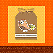 Welcome Baby Card With Funny Little Bird, Vector Format