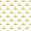 Wheats Ribbon Seamless Pattern. Beer Icons Isolated