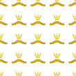 Wheats Ribbon Seamless Pattern. Beer Icons Isolated stock illustration