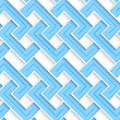 White 3D With Colors Blue Striped Brackets.Abstract Geometrical Background. Pattern With Cut Out Paper Effect And Realistic Shadows