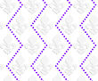 White 3D With Colors Fleur-de-lis With Purple Dots.Abstract Geometrical Background. Pattern With Cut Out Paper Effect And Realistic Shadows