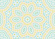 White Background With Abstract Concentric Color Pattern