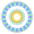 White Background With Abstract Watercolor Pattern