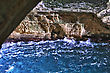 White Chalk Cliffs And Underground Grottoes Rosh Hanikra stock photo