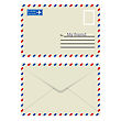 White Envelope With Stamp. Vector Illustration. stock vector