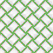 White Paper Envelope Seamless Pattern On Green Background