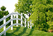 White Picket Fence stock photo