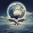 Whole World In Her Hands, Abstract Environmental Backgrounds