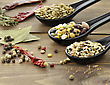 Wild Rice Mix ,Beans And Lentils With Spices stock photography