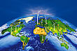 And Wind Power In The World To A Sustainable Energy Or Renewable Energy stock image