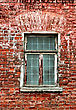Window And Brick Wall Of Old House stock image