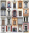 Windows from Belgrade, Serbia stock photo