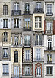 Windows of Paris, France stock photography