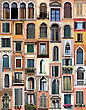 Windows of Venice, Italy stock photography