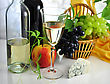 Wine And Fresh Fruits stock photo