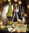 Wine ,Grape And Cheese Collection stock photography