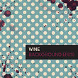 Wine Rings On Vintage Tableclotch. Abstract Restaurant Background. Vector, EPS10