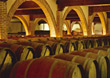 Winery with Wine Barrels stock photography